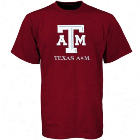 Texas A&m Aggies Tee :T exas A&m Aggies Maroon Campus Yard Tee