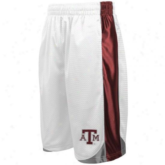 Texas A&m Aggies White Vector Workou5 Shorts