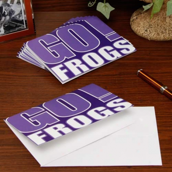 Texas Christian Horned Frogs Slogan Note Cards