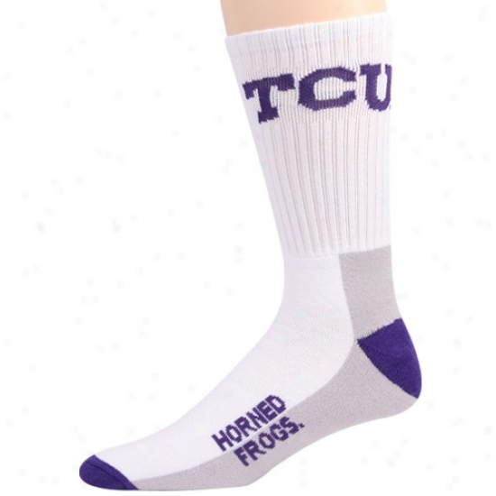 Texas Christian Horned Frogs Youth Tri-color Team Logo Tall Socks