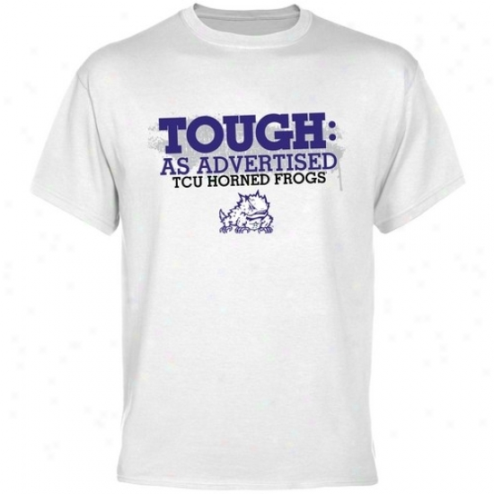 Texas Christian University Tees : Texas Christian Horned Fros White As Advertised Tees