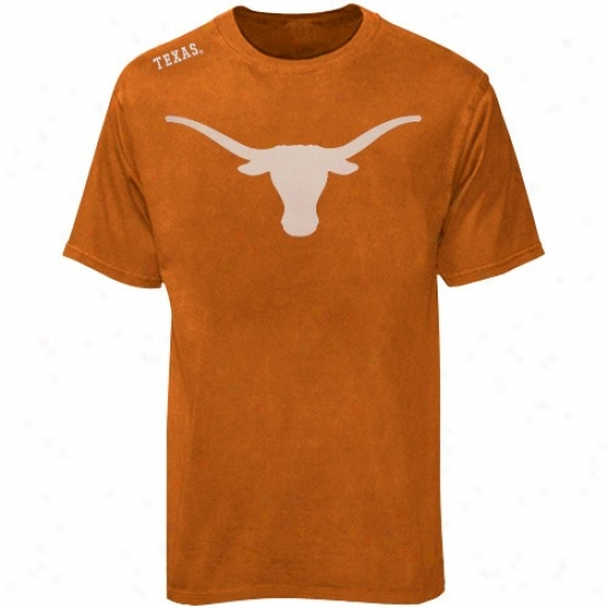 Texas Longhorn T Shirt : Texas Longhorn Focal Orange Phantom T Shirt