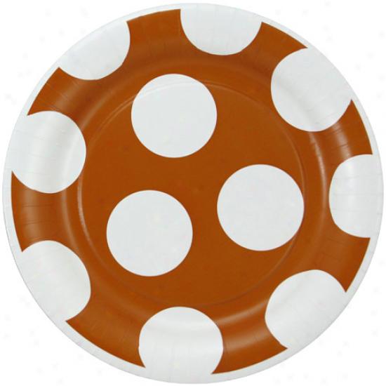 Texas Longhorns 8-pack Polka Dot Dinner Plates