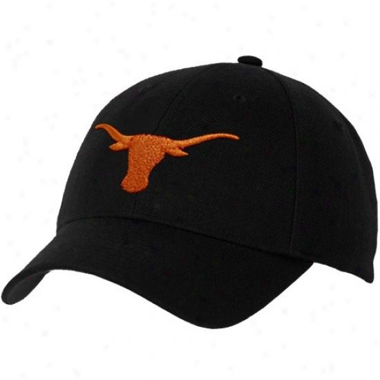 Texas Longhorns Cap : Nike Texas Longhorns Black Swoosh lFex Fit Cap
