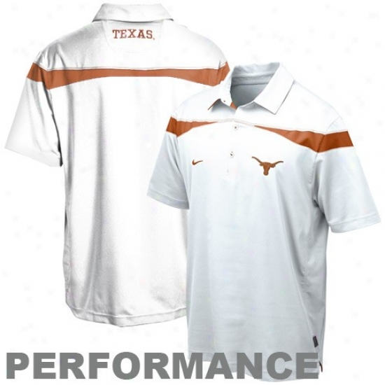 Texas Longhorns Clothing: Nike Texas Longhorns White 2010 Coaches Practice Performance Pool