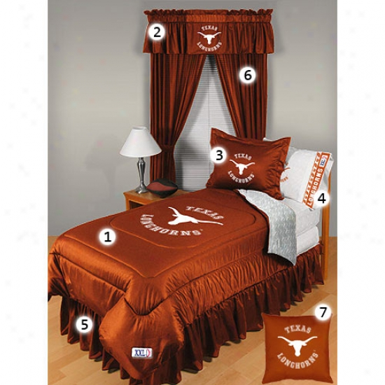 Texas Longhorns Full Size Locker Room Bedroom Set