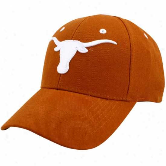 Texas Longhorns Gear: Texas Longhorns Burnt Orange Triple Conference Hat