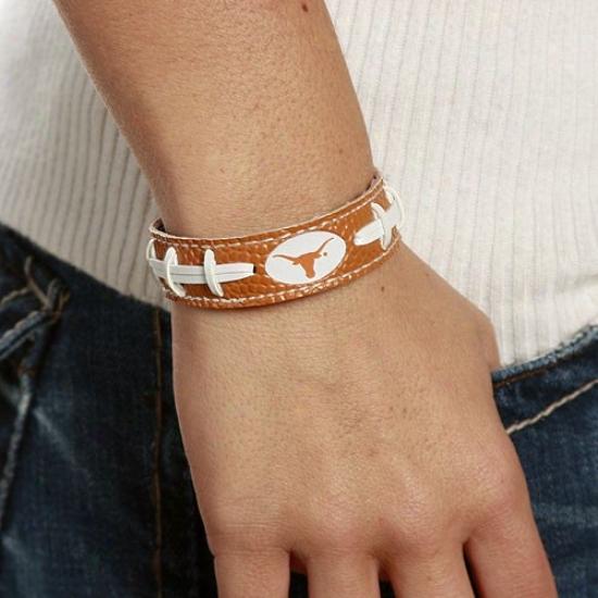 Texas Longhorns Ladies Brown Football Bracelet