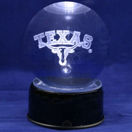Texas Longhorns Team Logo Laser Globe