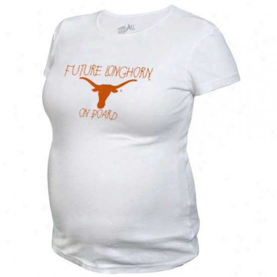 Texas Longhorns Tshirts : My U Texas Longhorns Ladies White Maternity Tshirts