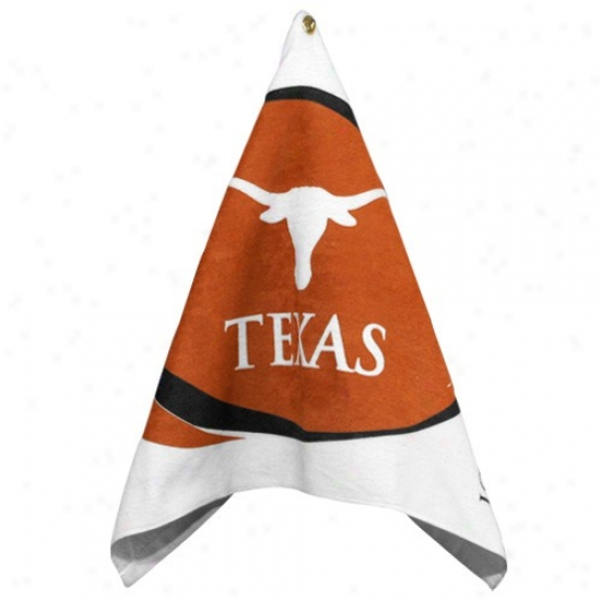 Texas Longhorns White-focal Orange Printed Team Logo Golf Towel
