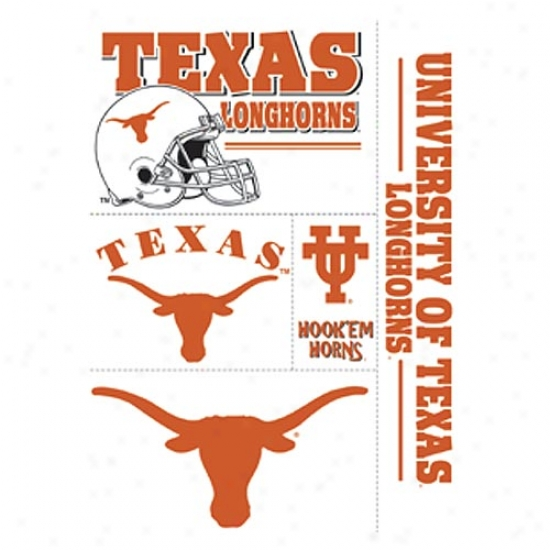 Texas Longhorns Window Clings Sheet