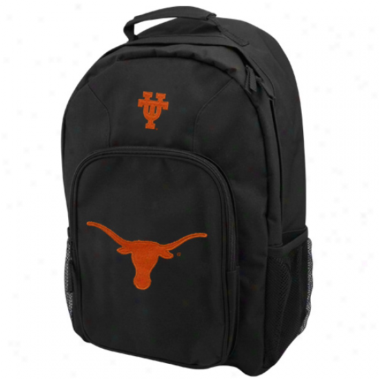 Texas Longhorns Youth Black Southpaw Backpack