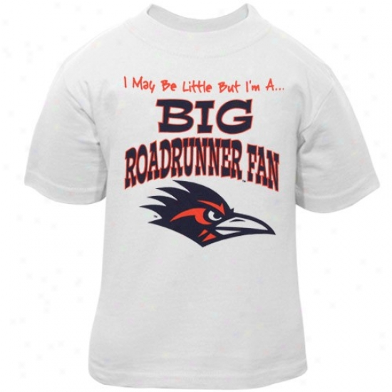 Texas San Antonio Roadrunners T-shirt : Texas San Antonio Roadrunners Toddler White Haughty Blow  T-shirt