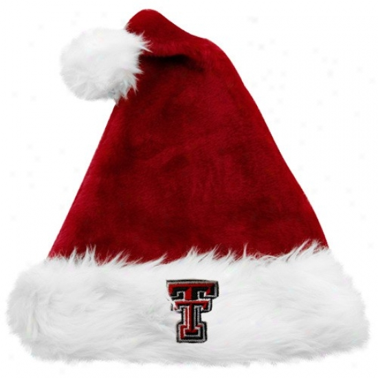 Texas Tech Red Raiders Caps : Top Of The World Texas Tech Red Raiders Red Santa Claus Caps
