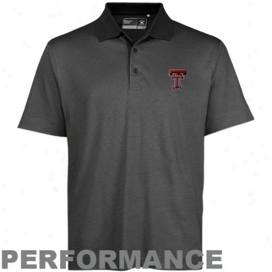 Texas Tech Red Raiders Clothes: Cutter & Byck Texas Tech Red Raiders Charcoal Drytec Championship Performance Polo