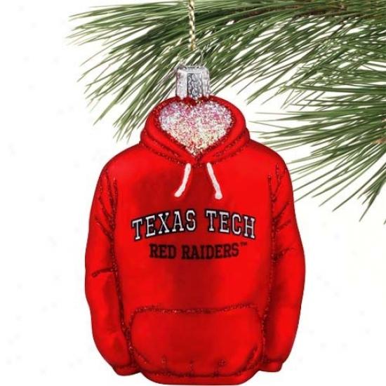 Texas Tech Red Raiders Glass Hoody Ornament