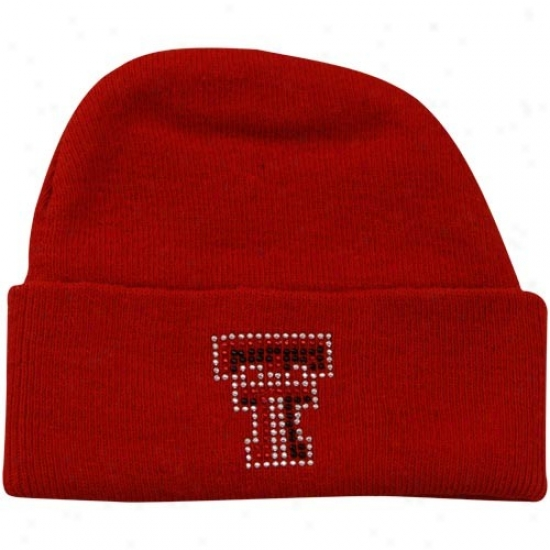 Texas Tech Red Raiders Hats : Texas Tech Red Raiders Infant Girls Scarlet Rhines5one Knit Beanie