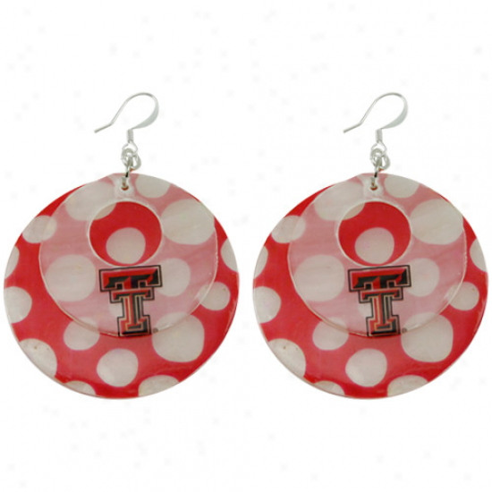 Texas Tech Red Raiders Polka Dot Caoiz Double Shepl Earrings
