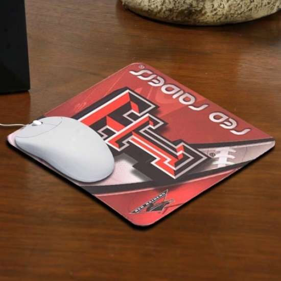 Texas Tech Red Raiders Team Logo Neoprene Mousepad
