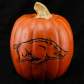 Arkansas Razorbacks 12'' Resin Decorative Pumpkin