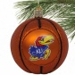 Kansas Jayhawks Glass Basketball Ornament