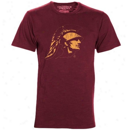 Trojans Apparel: Trojans Cardinal Chase T-shirt