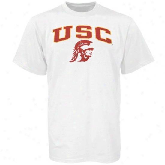 Trojans Shirts : Trojans Youth White Poor Essentials Shirts