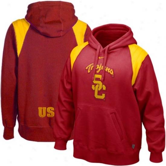 Trojans Sweatshirts : Nike Trojans Cardinal Hands To Face Sweatshirts