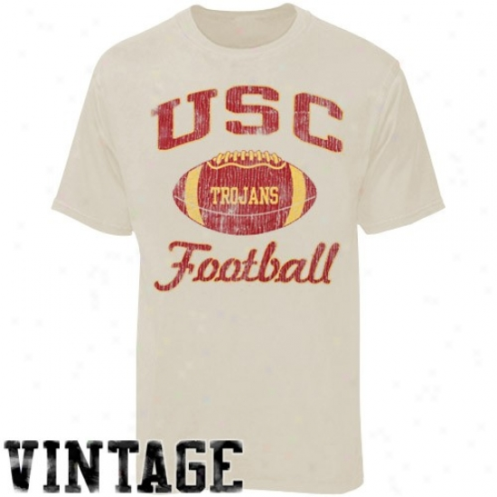 Trojans Tees : Trojzns Stone Football Super-soft Vintag Tees