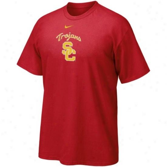 Trojans Tshirt : Nike Trojans Youth Cardinal Classic Logo Tshirt