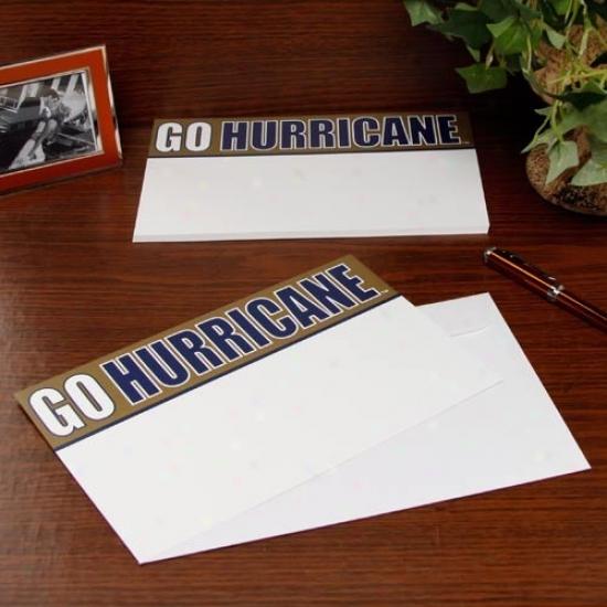 Tulsa Golden Hurricane 20-pack Team Slogan Stationery