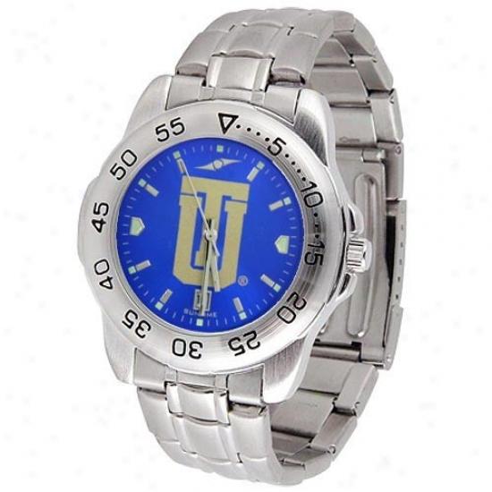 Tulsa Golden Hurricane Watch : Tulsa Golden Hurricane Men's Anochrome Sport Watch With Stainless Setel Band