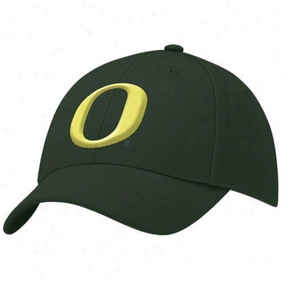 U Of Oregon Hat : Nike U Of Oregon Youth Green Swoosh Flex Fit Hat