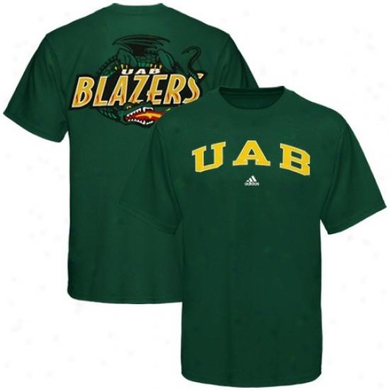 Uab Blazers Tshirt : Adidas Uab Blazers Green Relentless Tshirt
