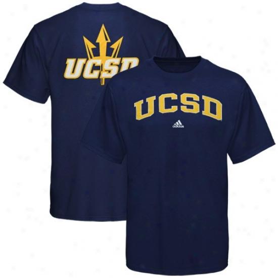 Uc San Diego Tritons Tshirts : Addas Uc San Diego Tritons Navy Blue Relentless Tshirts
