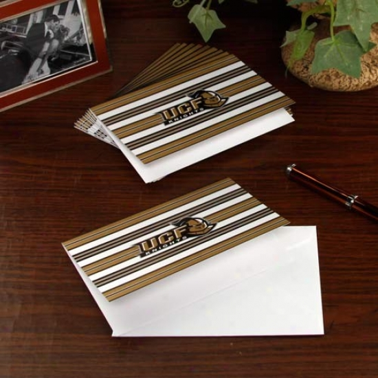 Ucf Knights 10-pack Striped Folded Note Cards