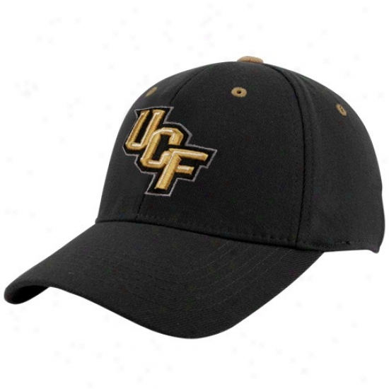 Ucf Knights Hats : Highest part Of The World Ucf Knights Youth Black Basic Logo 1flt Hats