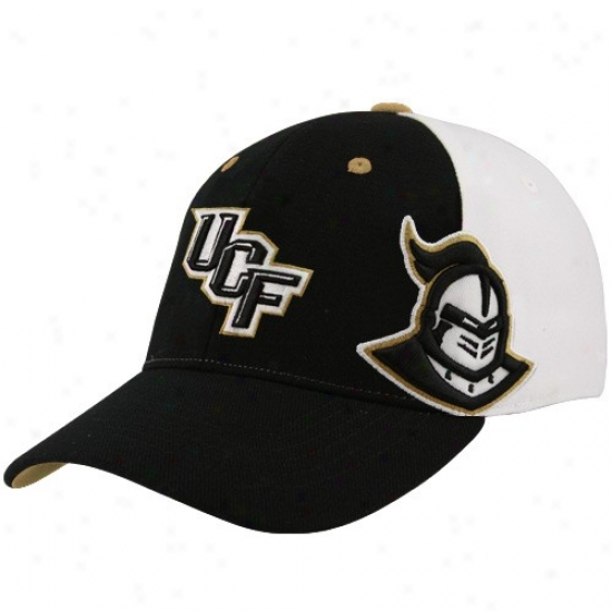 Ucf Knights Commodities: Outgo Of The World Ucf Knights Black-white X-ray Flex Fit Hat