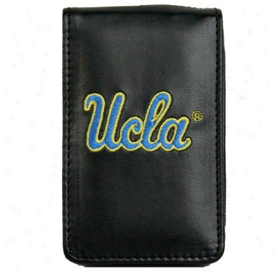 Ulca Bruins Black Leather Embrlidered Ipod Case