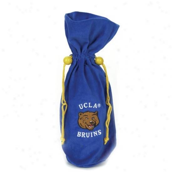 Ucla Bruins Royal Blue Velvet Wine Bottle Bag