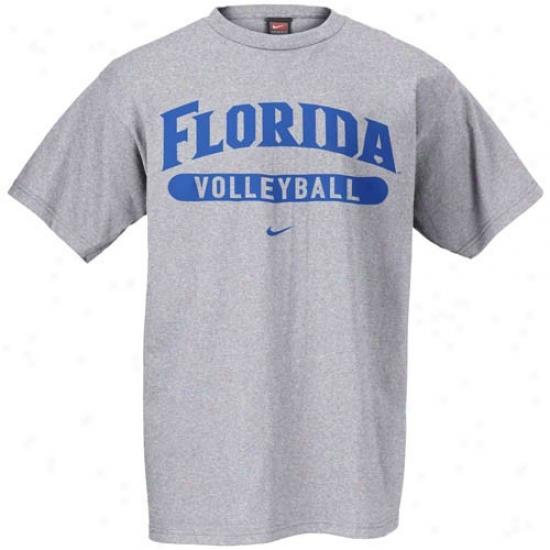 Uf Gator Shirts : Nike Uf Gator Ash Volleyball Shirts