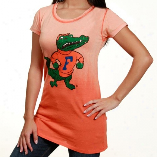Uf Gator Shirts : Uf Gator Ladies Orange Seam Wash Shirts