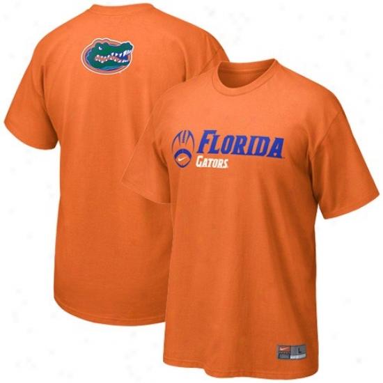 Uf Gator T-shirt : Nike Uf Gator Orange Practice T-shirt