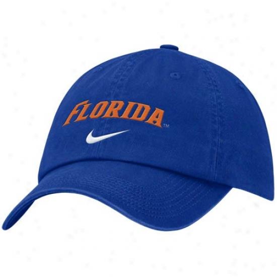 Uf Gators Gear: Nike Uf Gators Royal Blue Campus Adjustable Hat