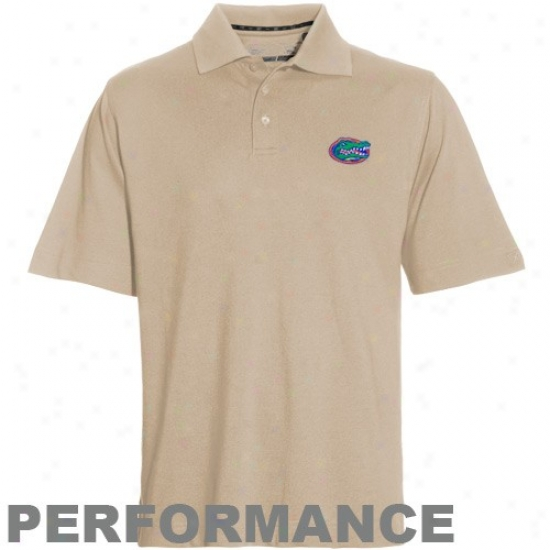 Uf Golf Shirt : Cutter & Buck Uf Gravel Drytec Cyampionship Performance Golf Shirt