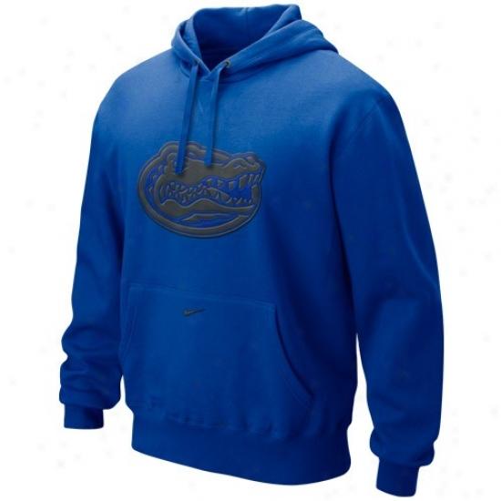 Uf Hoodie : Nike Uf Royal Blue Seasonal Tackle Twill Logo Hoodie
