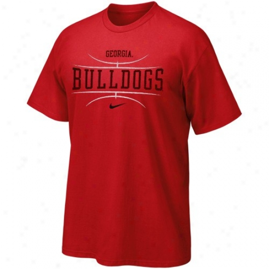 Uga Bulldgo Apparel: Nike Uga Bulldog Youth Red Basketball T-shirt