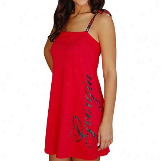 Uga Bulldog Tee : Uga Bulldog Ladies Red Game Sunshine Drese