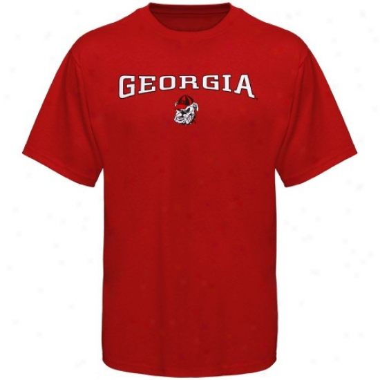 Uga Shirts : Uga Youth Red Arched Vivid Shirts